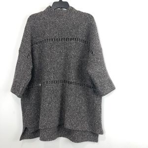 French Connection Mozart Ladder Trim Sweater XS